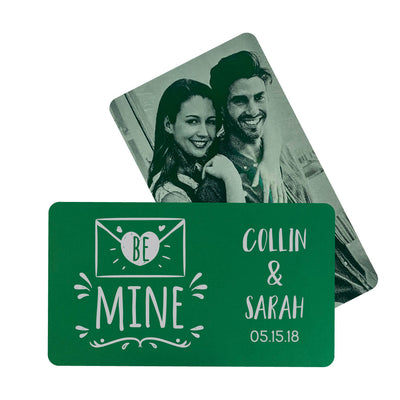 Be Mine Personalized Metal Wallet Card