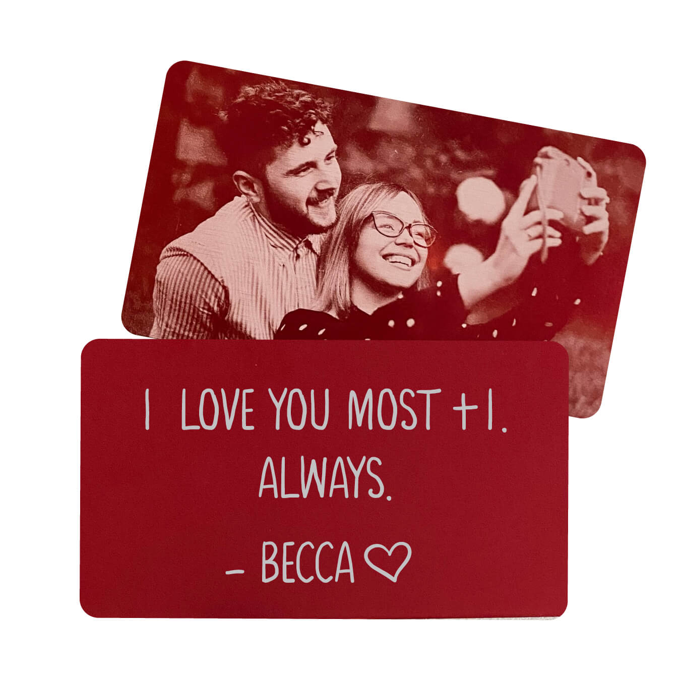 I Love You Most Personalized Metal Wallet Card
