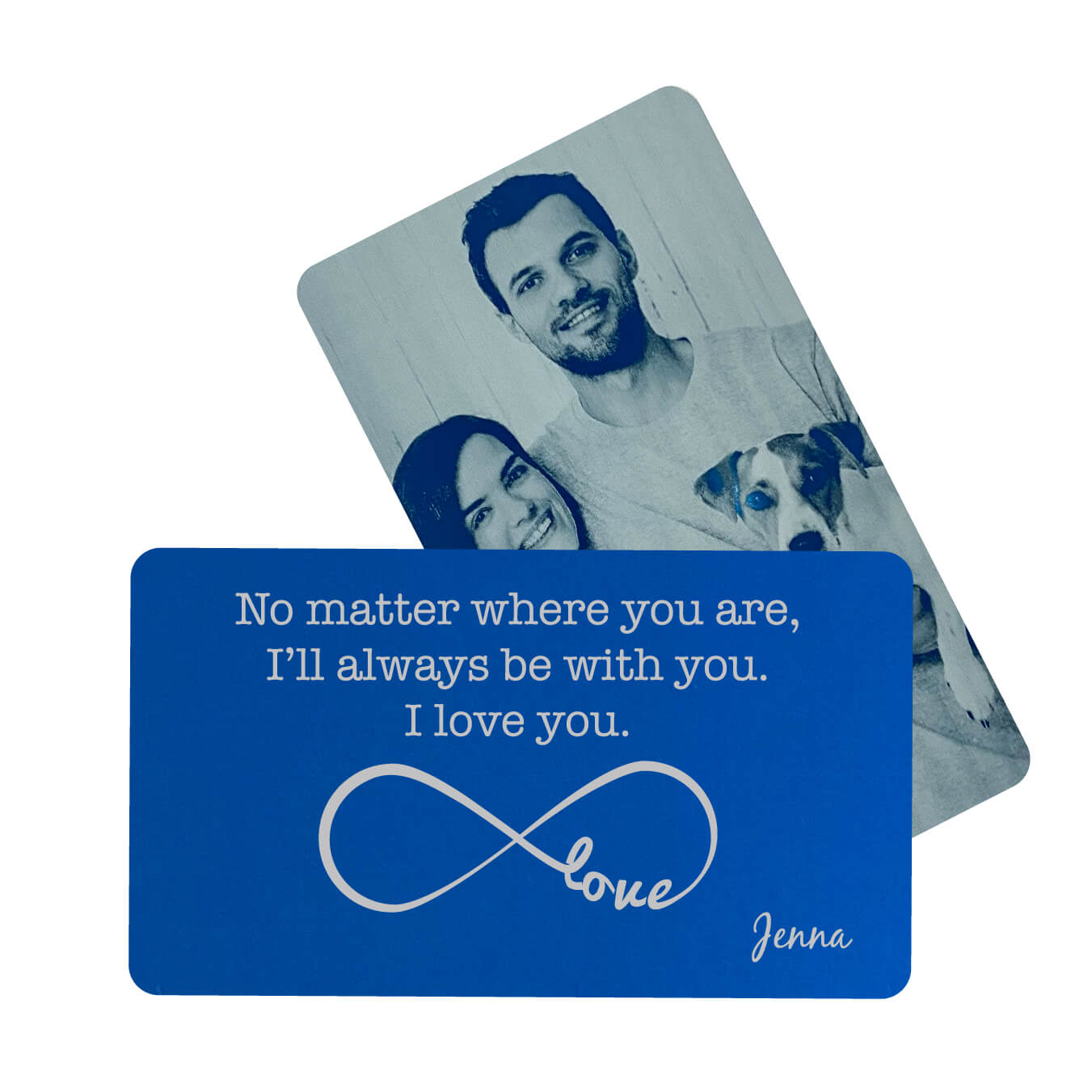No Matter Where You Are Personalized Metal Wallet Card
