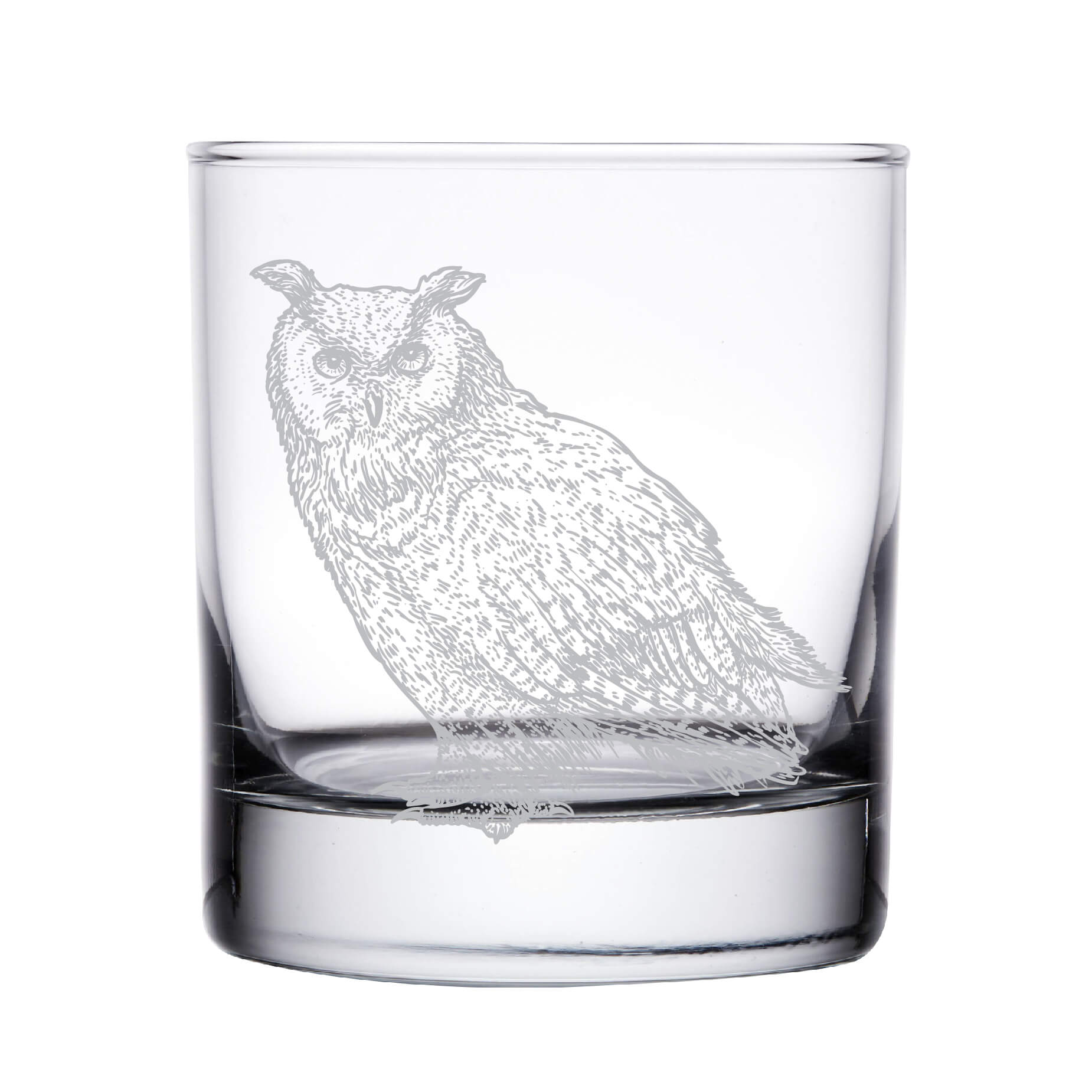 Owl Whiskey Glass