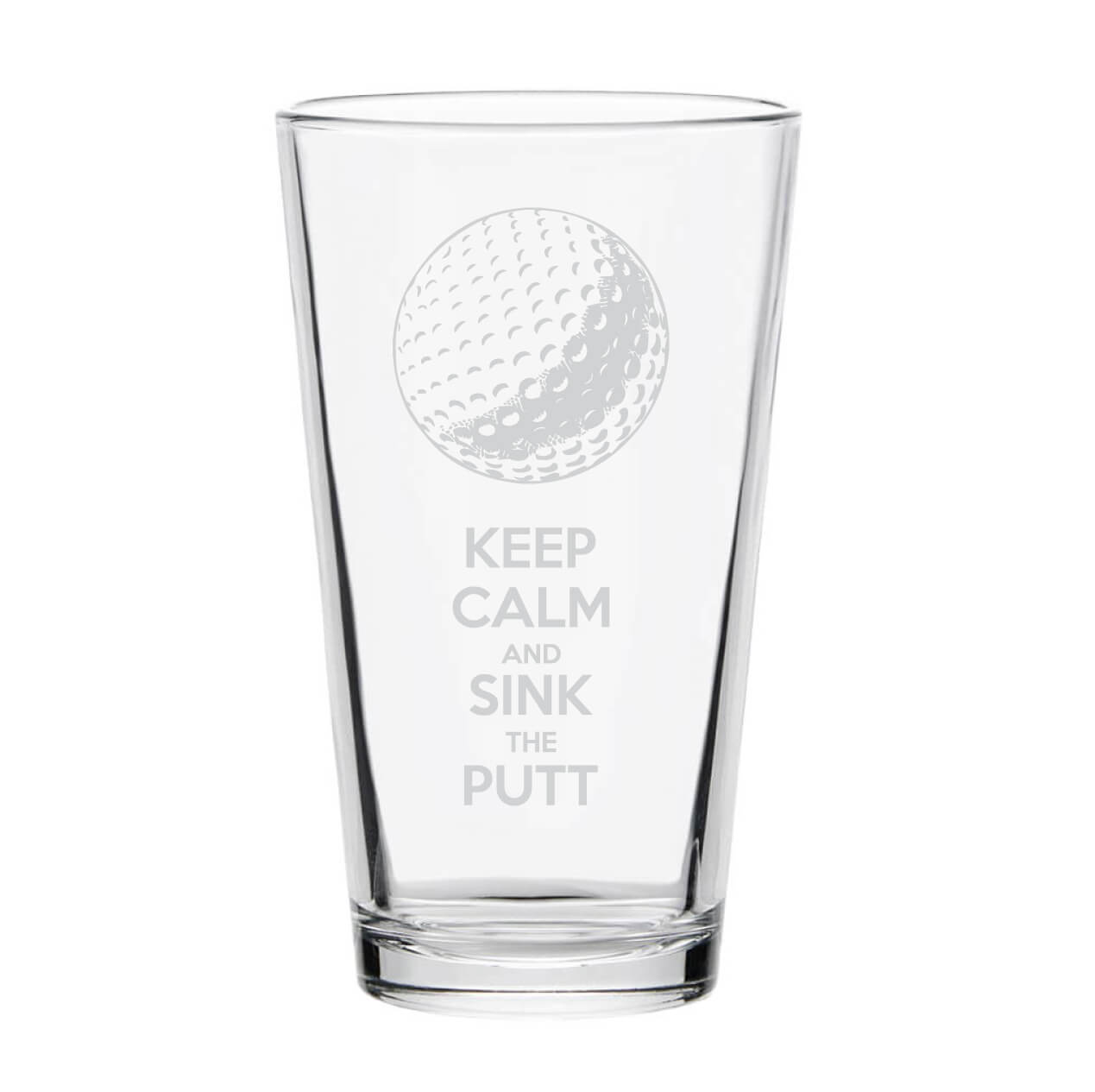 Keep Calm Golf Pint Glass