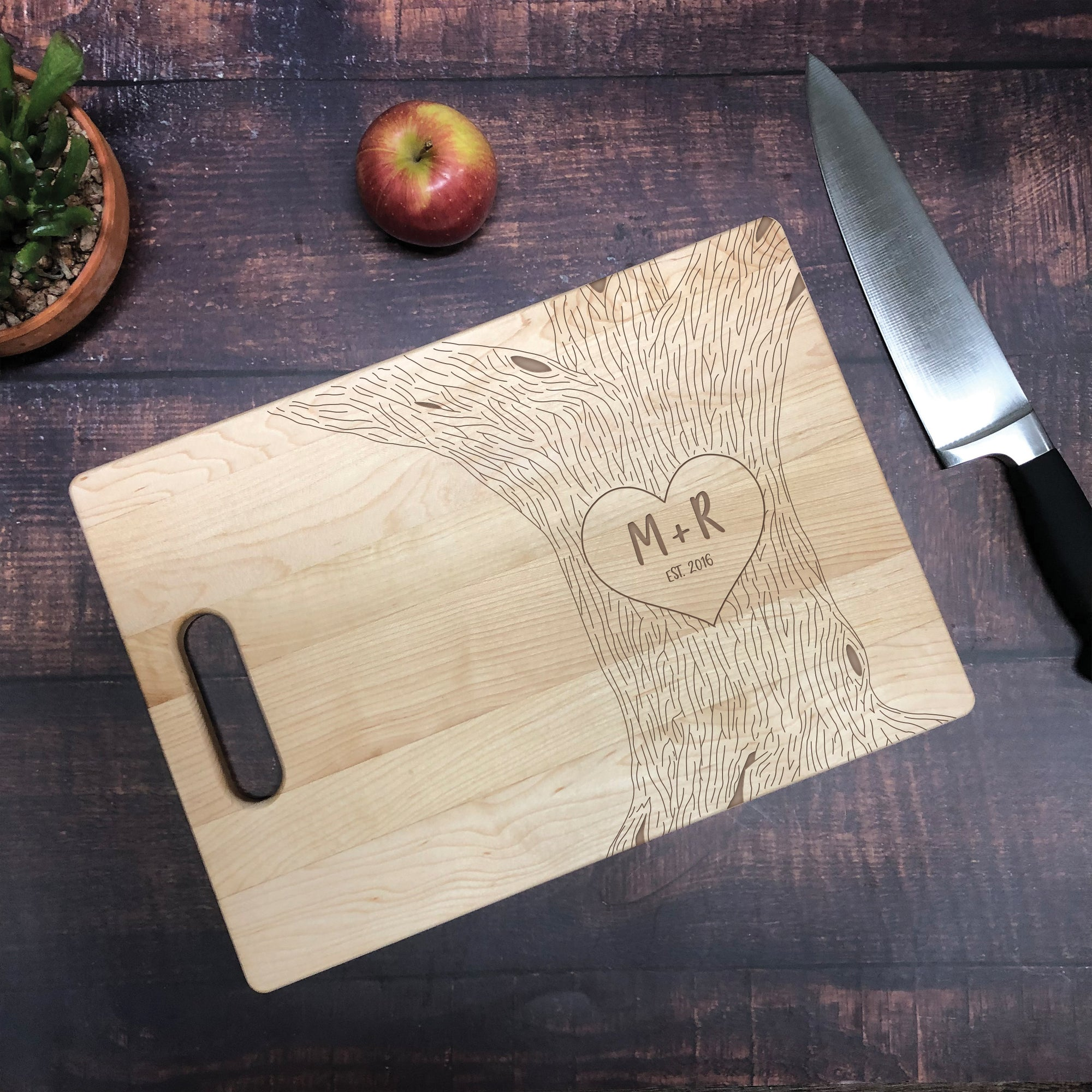 Couples Established Tree Cutting Board