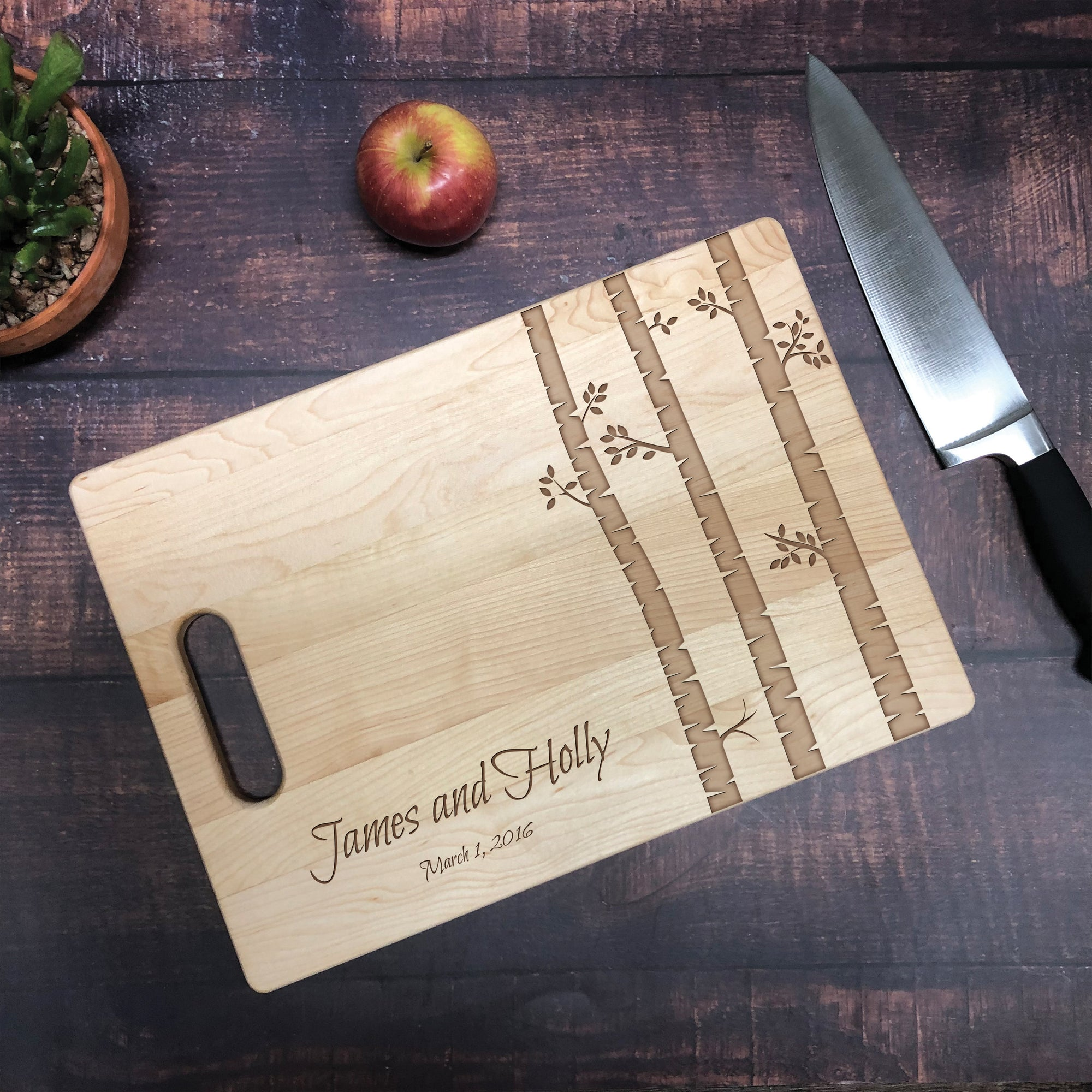 Couples Tree Personalized Cutting Board