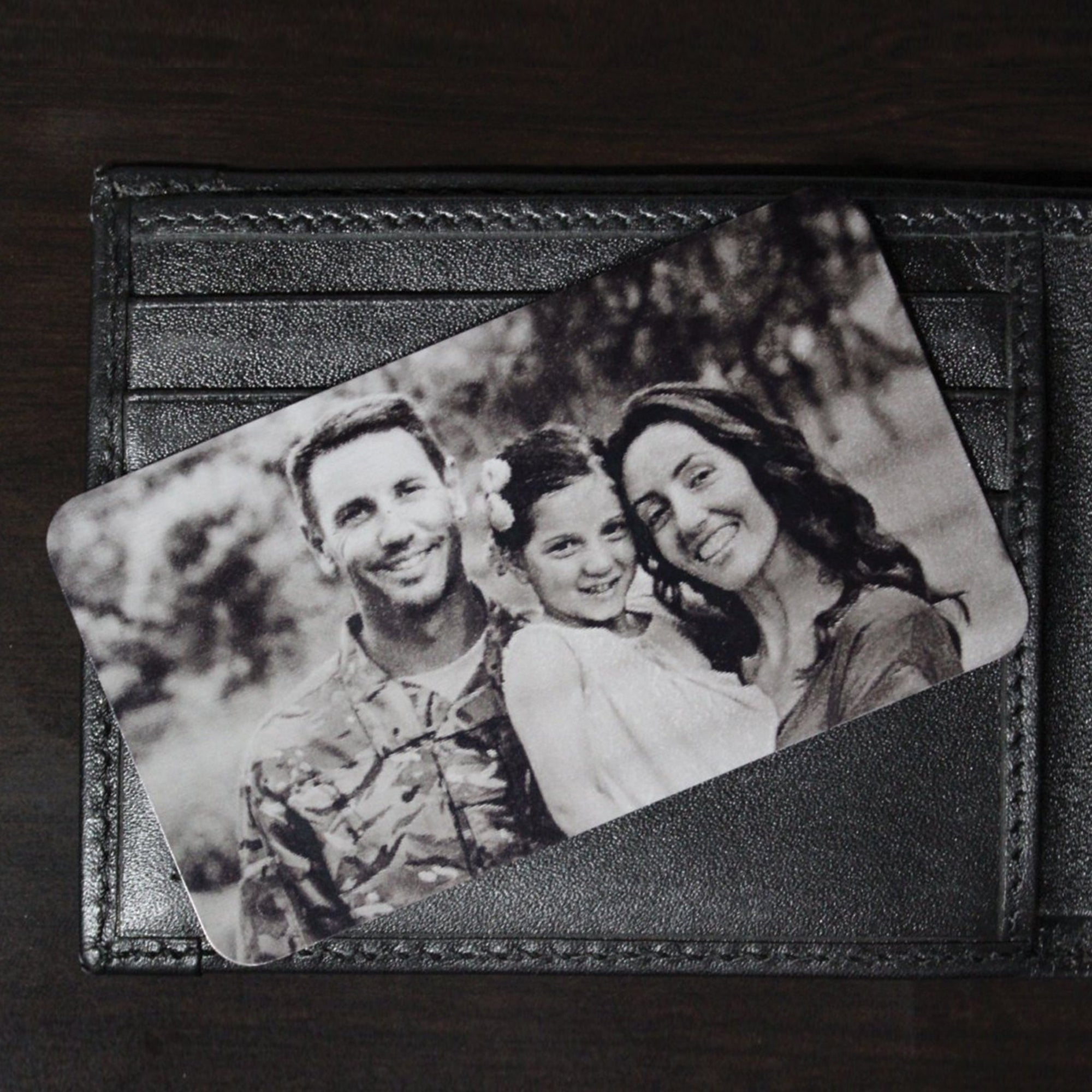 Personalized Wallet Card Black