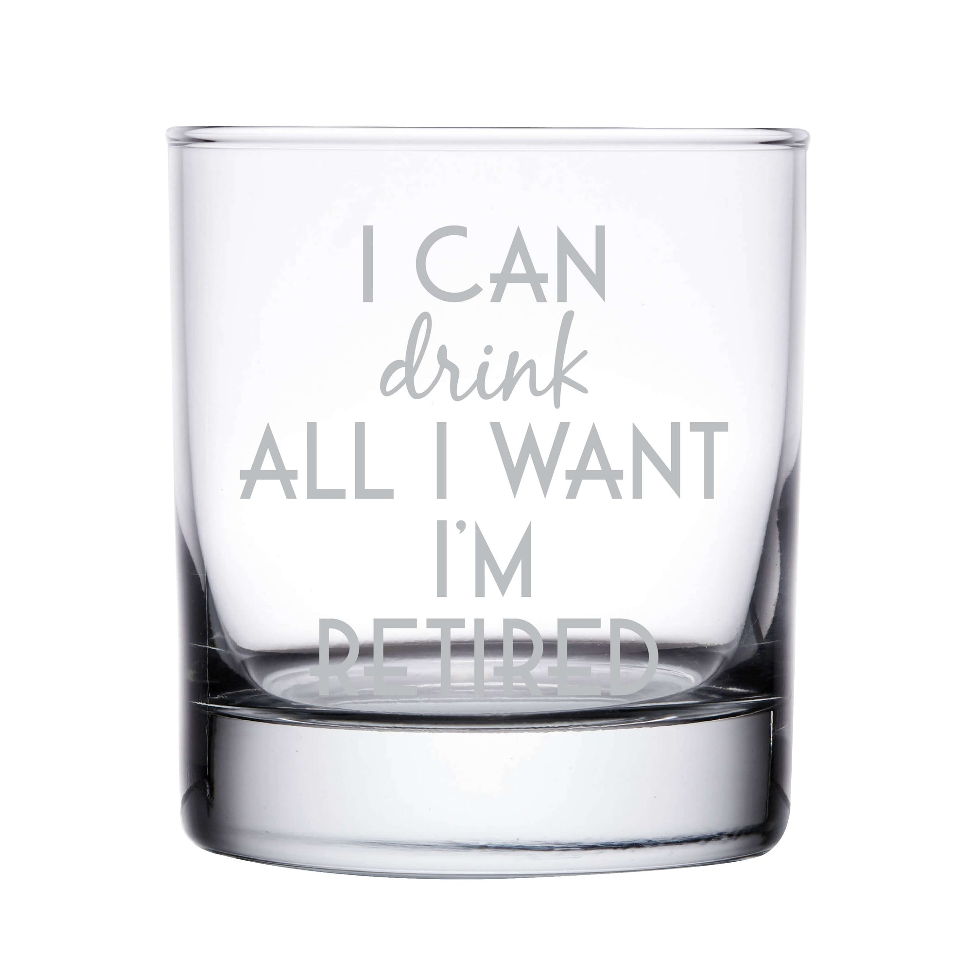 Funny Retirement Whiskey Glass