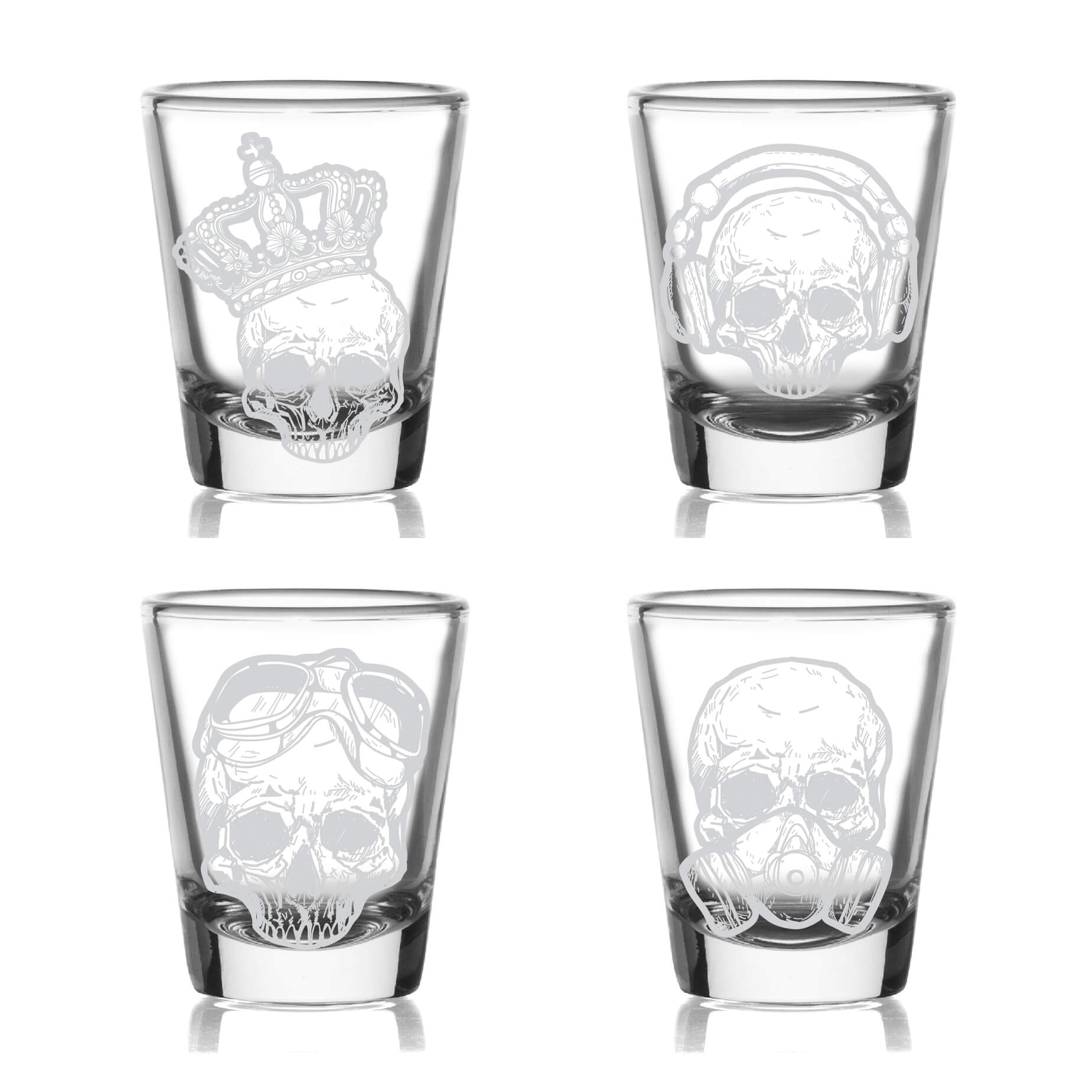 Skull Shot Glasses- Set of 4