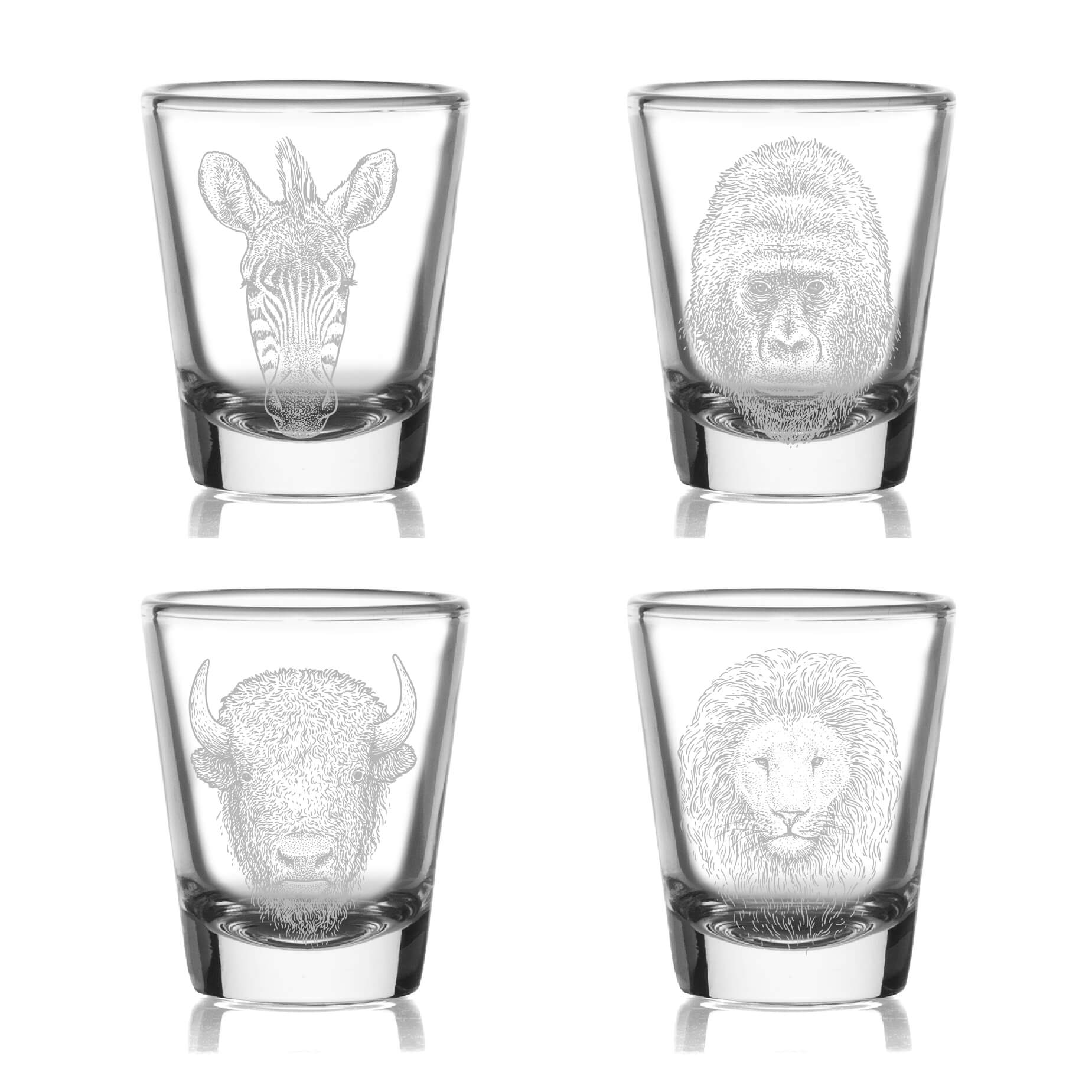 Wildlife Shot Glasses- Set of 4