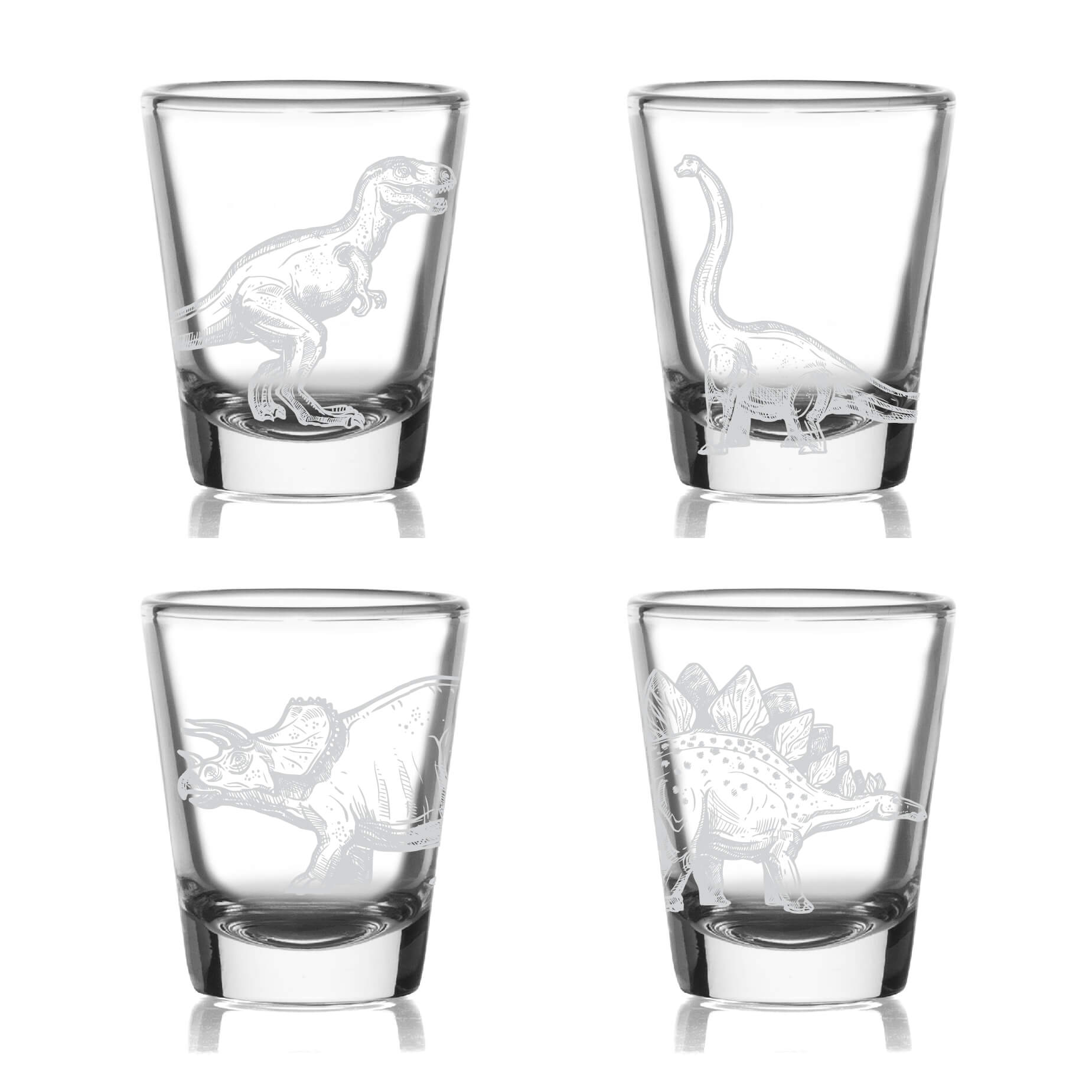 Dinosaur Shot Glasses- Set of 4