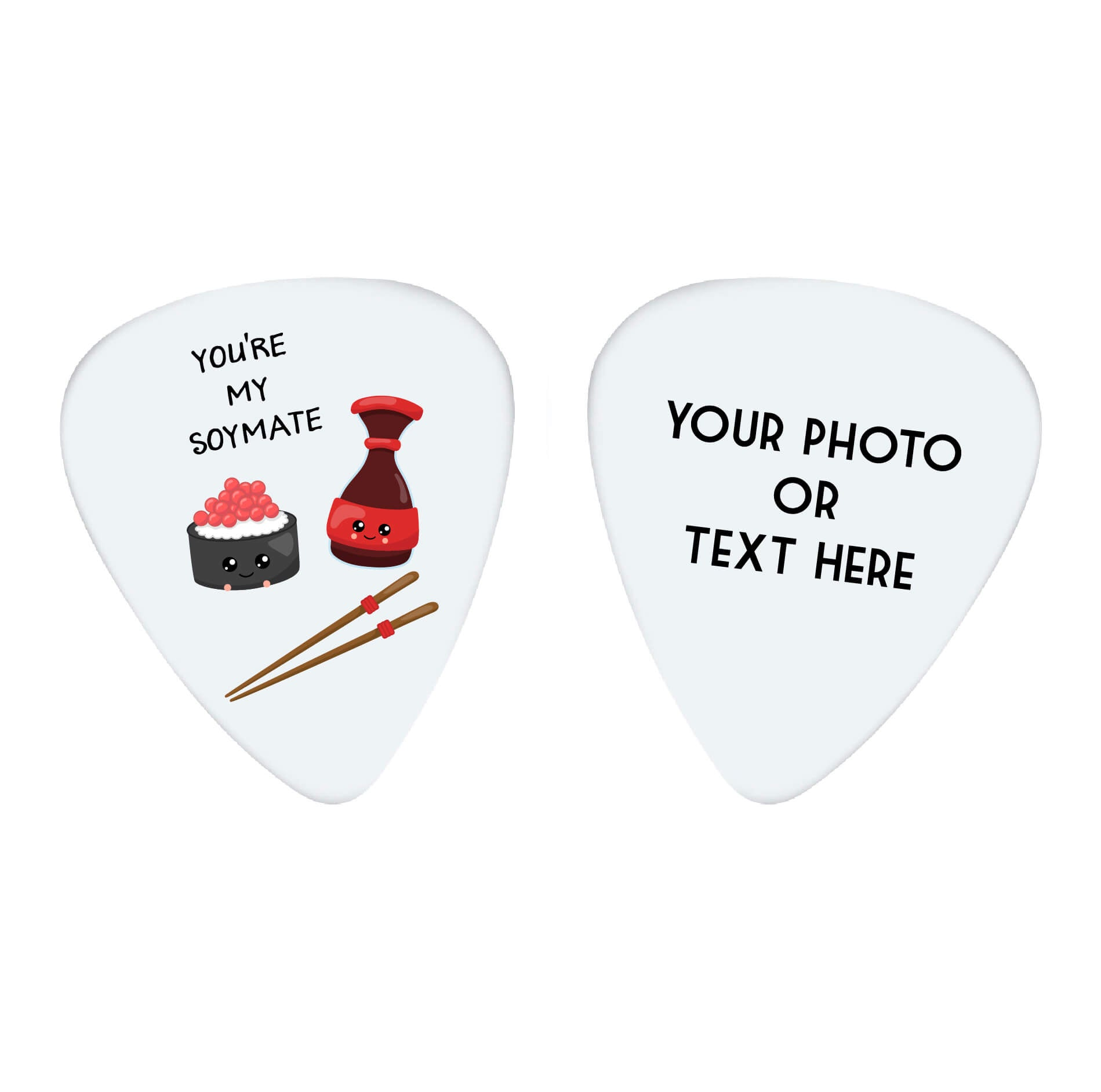 You're My Soy Mate Photo Guitar Pick