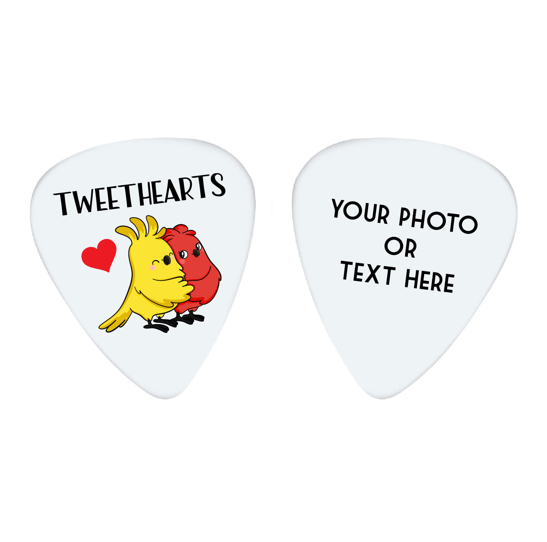 Tweethearts Custom Guitar Pick
