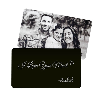 I Love You Most Metal Wallet Card