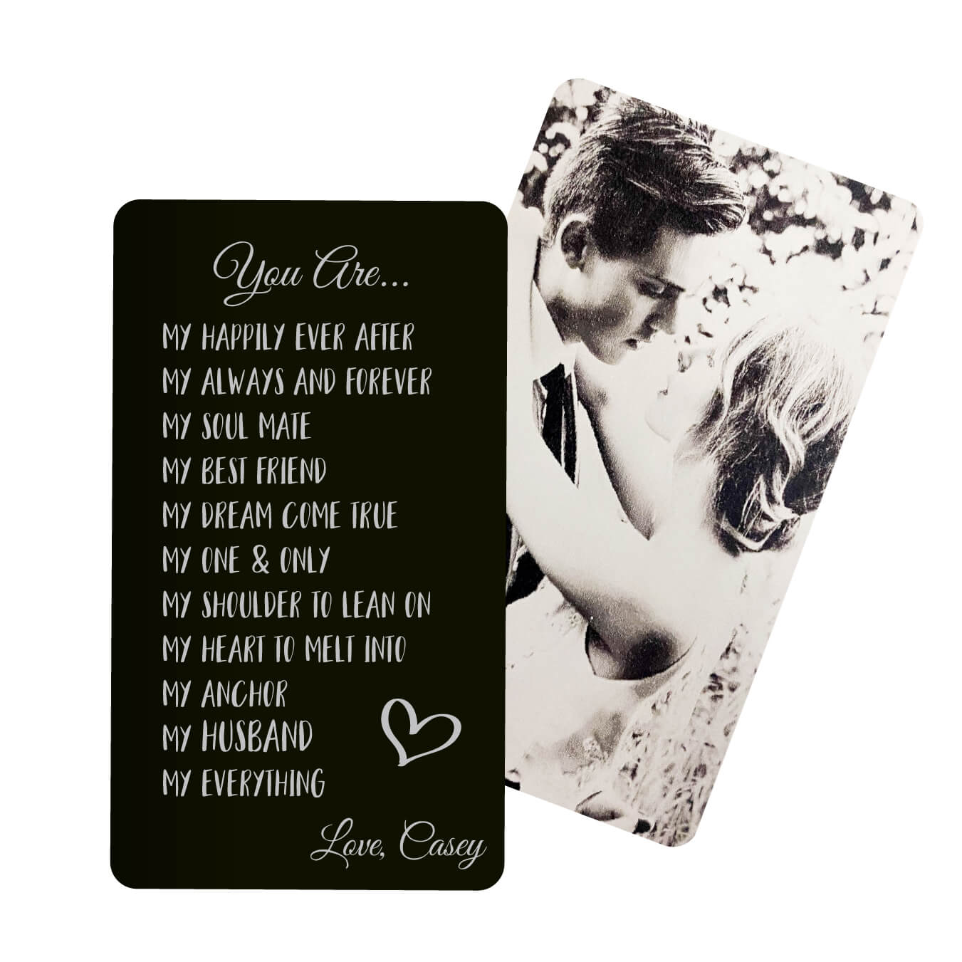 Gift for Husband Personalized Metal Wallet Card