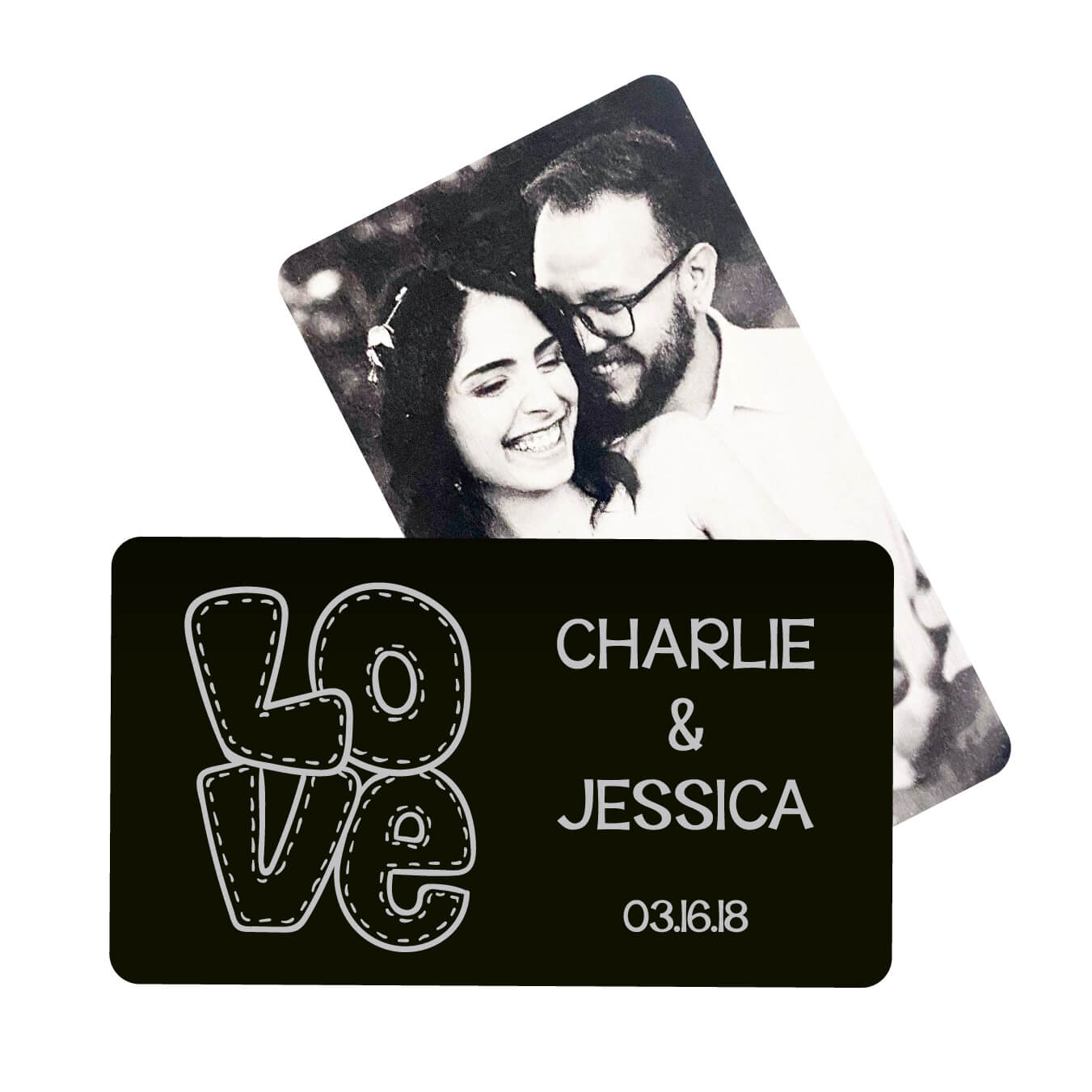 L O V E  Personalized Metal Wallet Card
