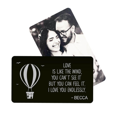 I Love You Endlessly Metal Wallet Card