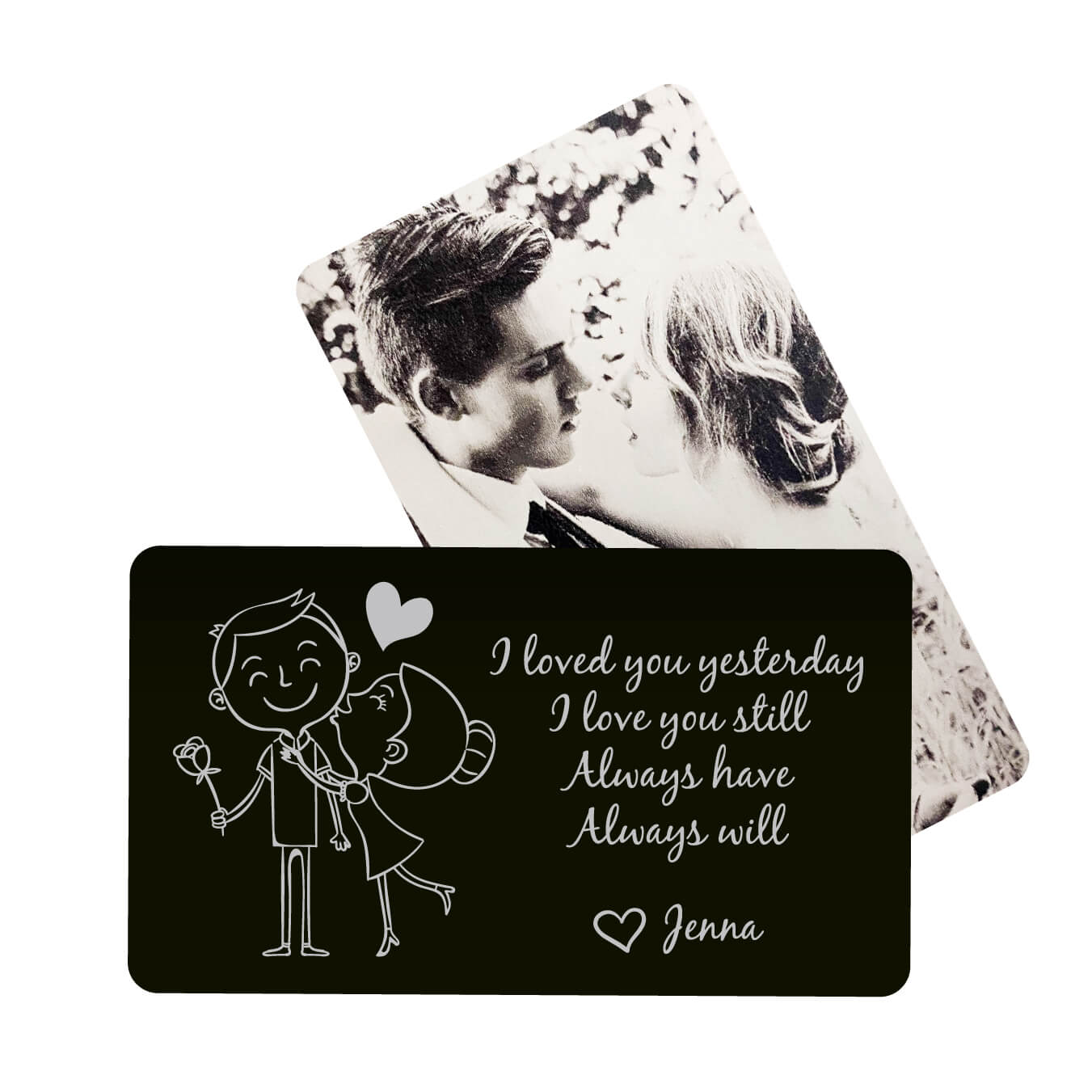 I Love You Still Personalized Metal Wallet Card