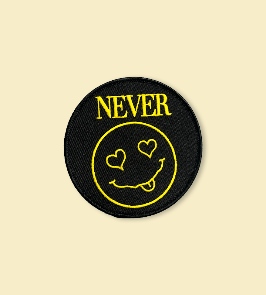 NEVER Iron-on Patch