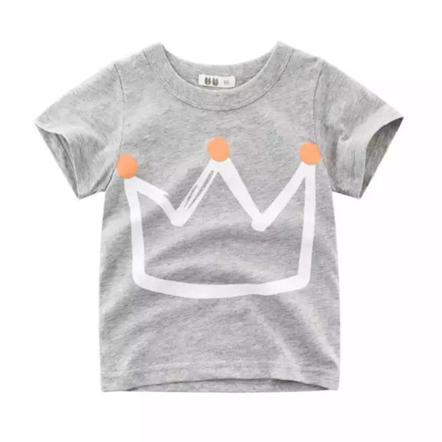 Crown Tee- Grey