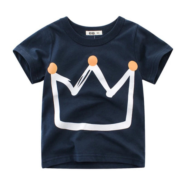 Crown Tee- Blue