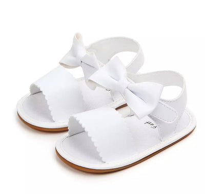 Bow Sandals - White