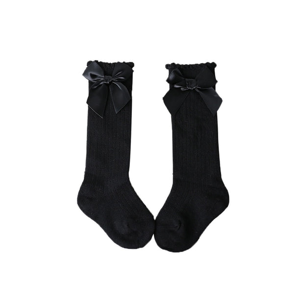 Bow Knee High Socks- Black - SEO Optimizer Test