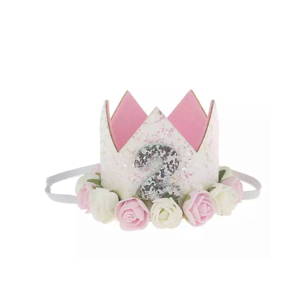 Ultimate 2nd Birthday Crown - White & Pink