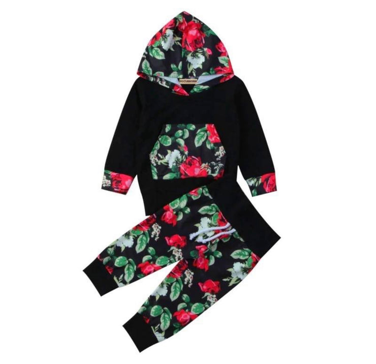 Black Floral Hoodie Set - SEO Optimizer Test