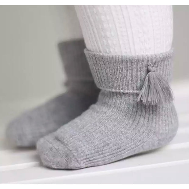 Tassel Socks- Grey - SEO Optimizer Test
