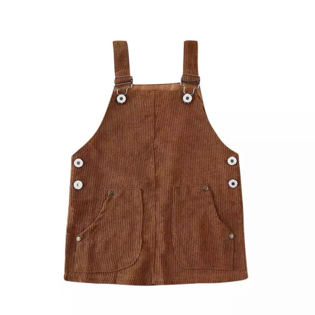 Marla Overall Dress- Coffee