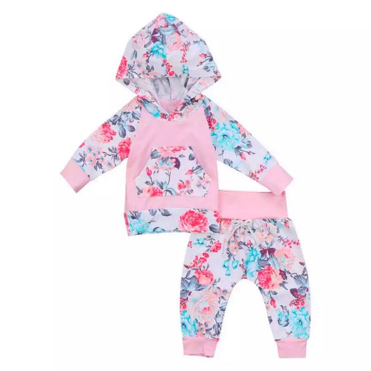 Pinks Floral Hoodie Set - SEO Optimizer Test