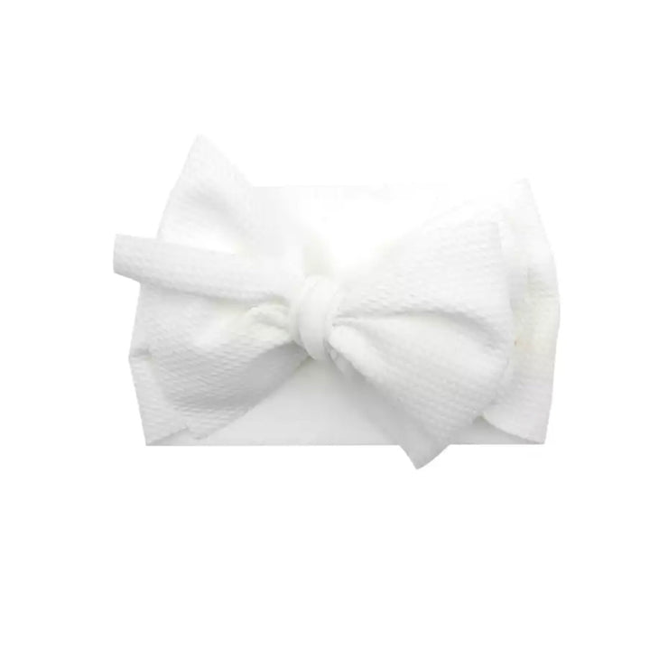 Natalia Bow Headband-White