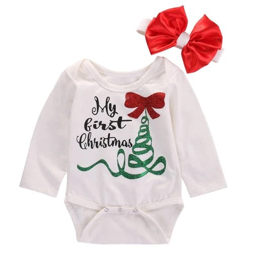 First Christmas Onesie Set - Bamboletta's Boutique