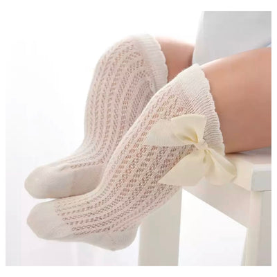 Candice Bow Socks- Creamy White - SEO Optimizer Test