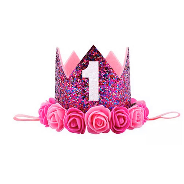 Ultimate Number One Birthday Crown - Dark Pink - SEO Optimizer Test