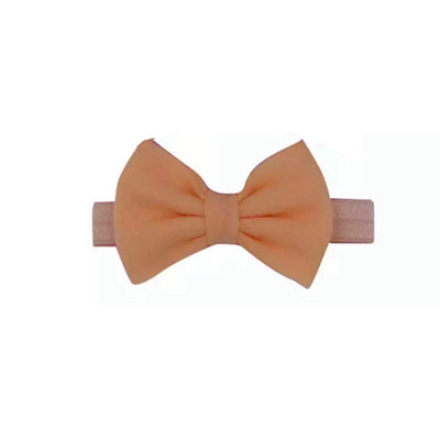 Avery Bow Headband- Apricot