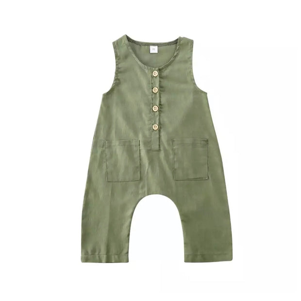 Matt Button Romper- Green - SEO Optimizer Test