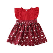 Deer Xmas Dress OR Deer Xmas Romper Set