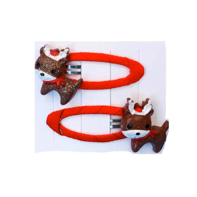 Rudolph Glitz Hair Clips Set