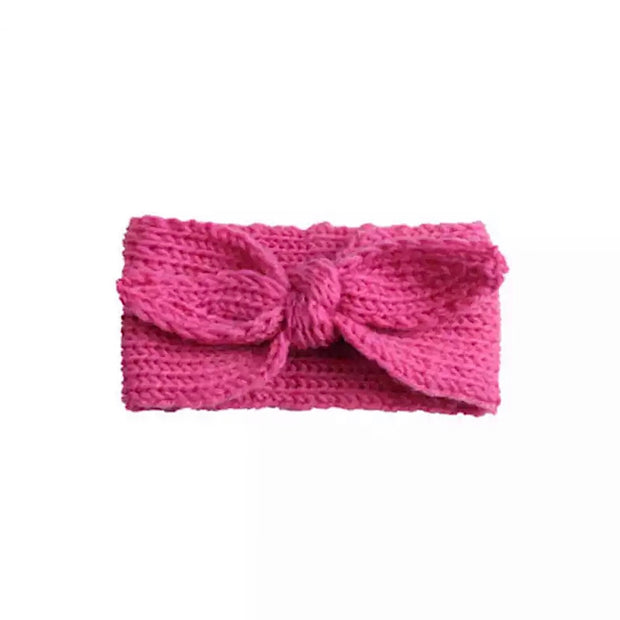 Winter Knitted Headband- Bright Pink - SEO Optimizer Test