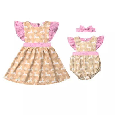 Goldie Sister Romper  OR Goldie Sisters Dress