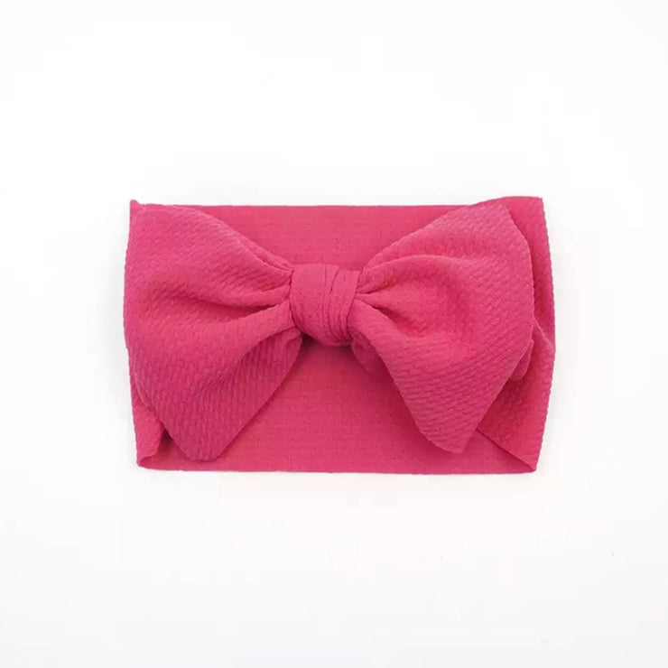Natalia Bow Headband-Bright Pink