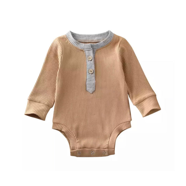Braxton Onesie-  Grey on Tan - SEO Optimizer Test