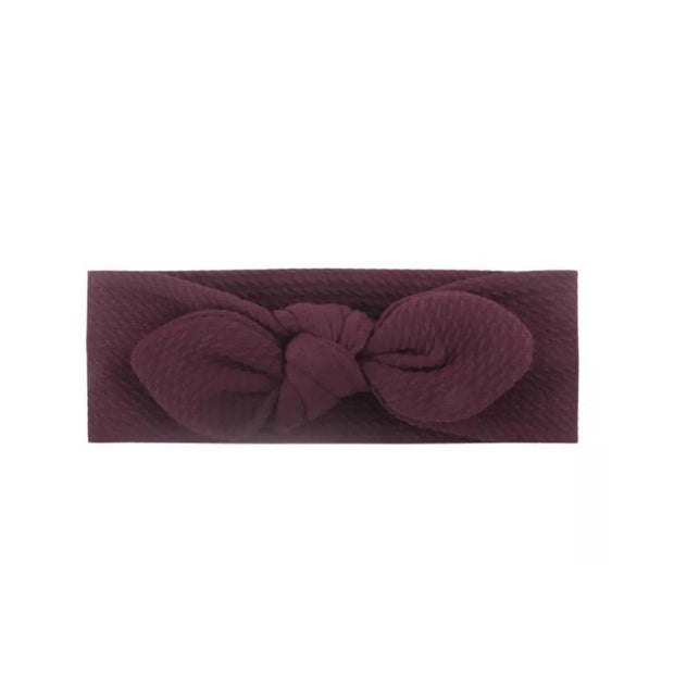 Wendy Bow Headband- Burgundy - SEO Optimizer Test