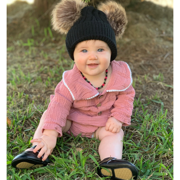 Lynn Pompom Beanie- Black - SEO Optimizer Test