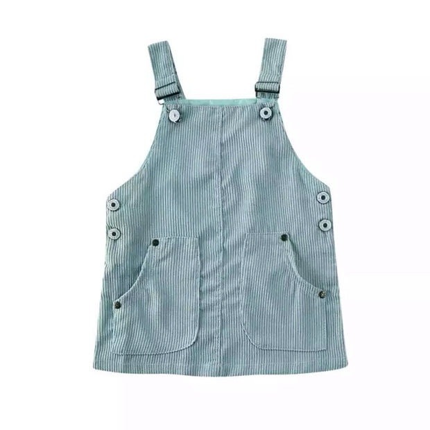 Marla Overall Dress- Mint