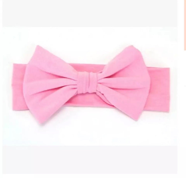 All that Bow Headband- Baby Pink - Bamboletta's Boutique
