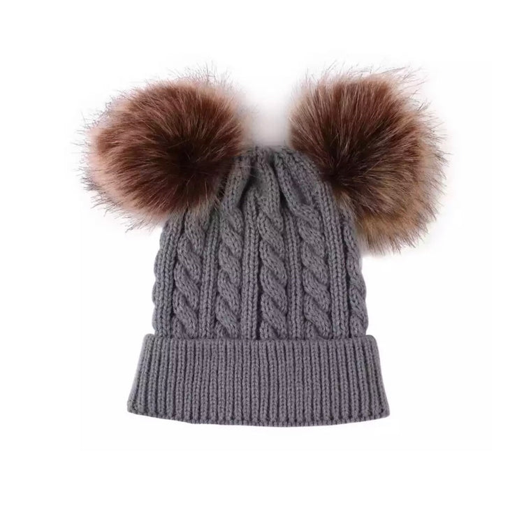 Lynn Pompom Beanie- Grey - SEO Optimizer Test