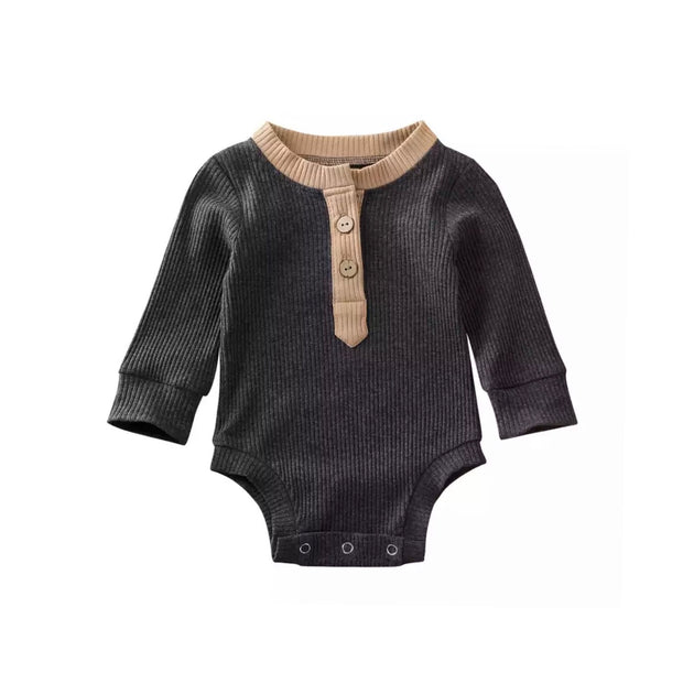 Braxton Onesie-  Tan on Dark Grey - SEO Optimizer Test