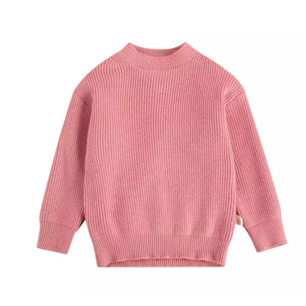 Adora Knit Jumper - Pink Peach