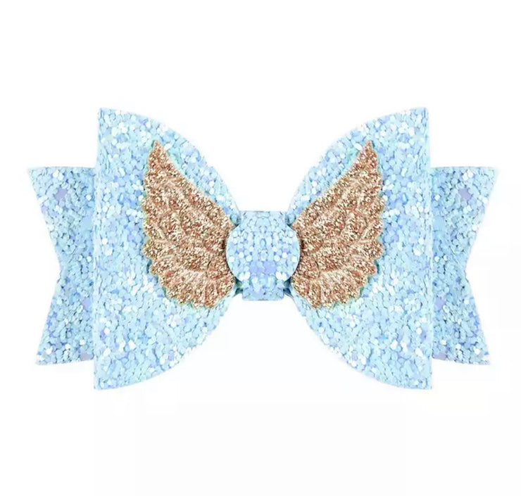 Florence Wings Hair Bow-Blue - SEO Optimizer Test