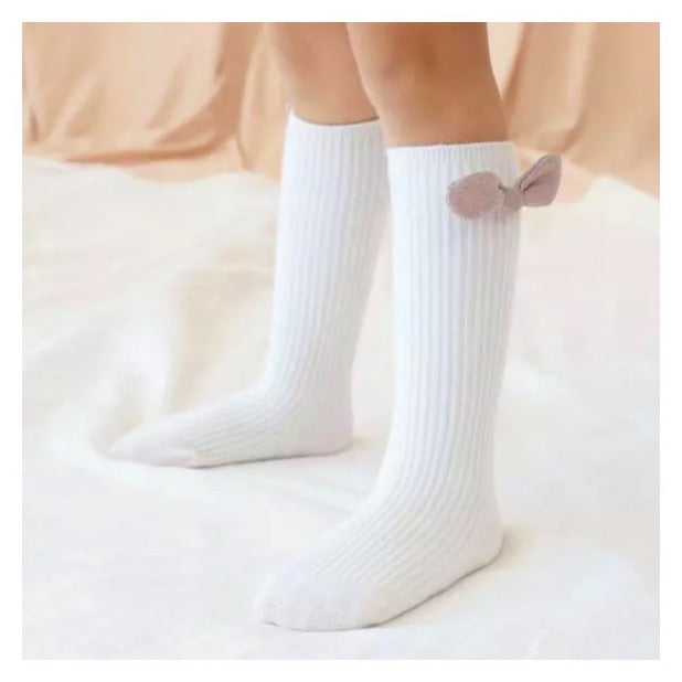 Beth Bunny Bow Socks- White & Pink - SEO Optimizer Test
